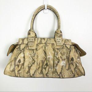 Maxx New York Snakeskin Embossed Handbag Purse